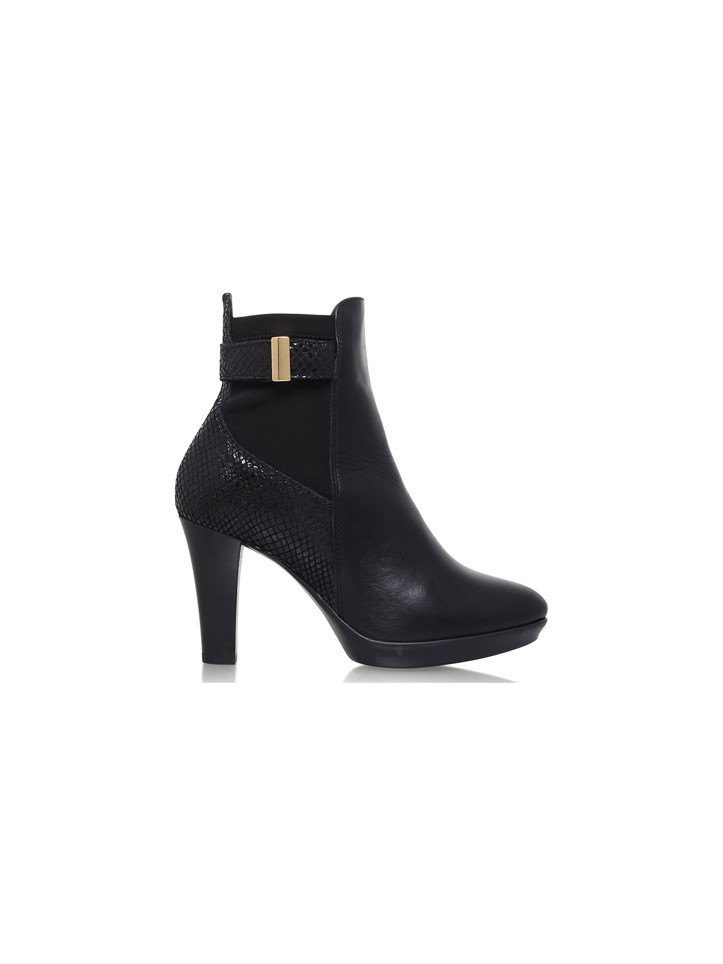 Buy Carvela Comfort Rae Cone Heeled Ankle Boots, Black, 3 Online at johnlewis.com