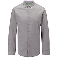 Buy BOSS Green C-Baldasar Plain Shirt, Light Pastel Grey Online at johnlewis.com