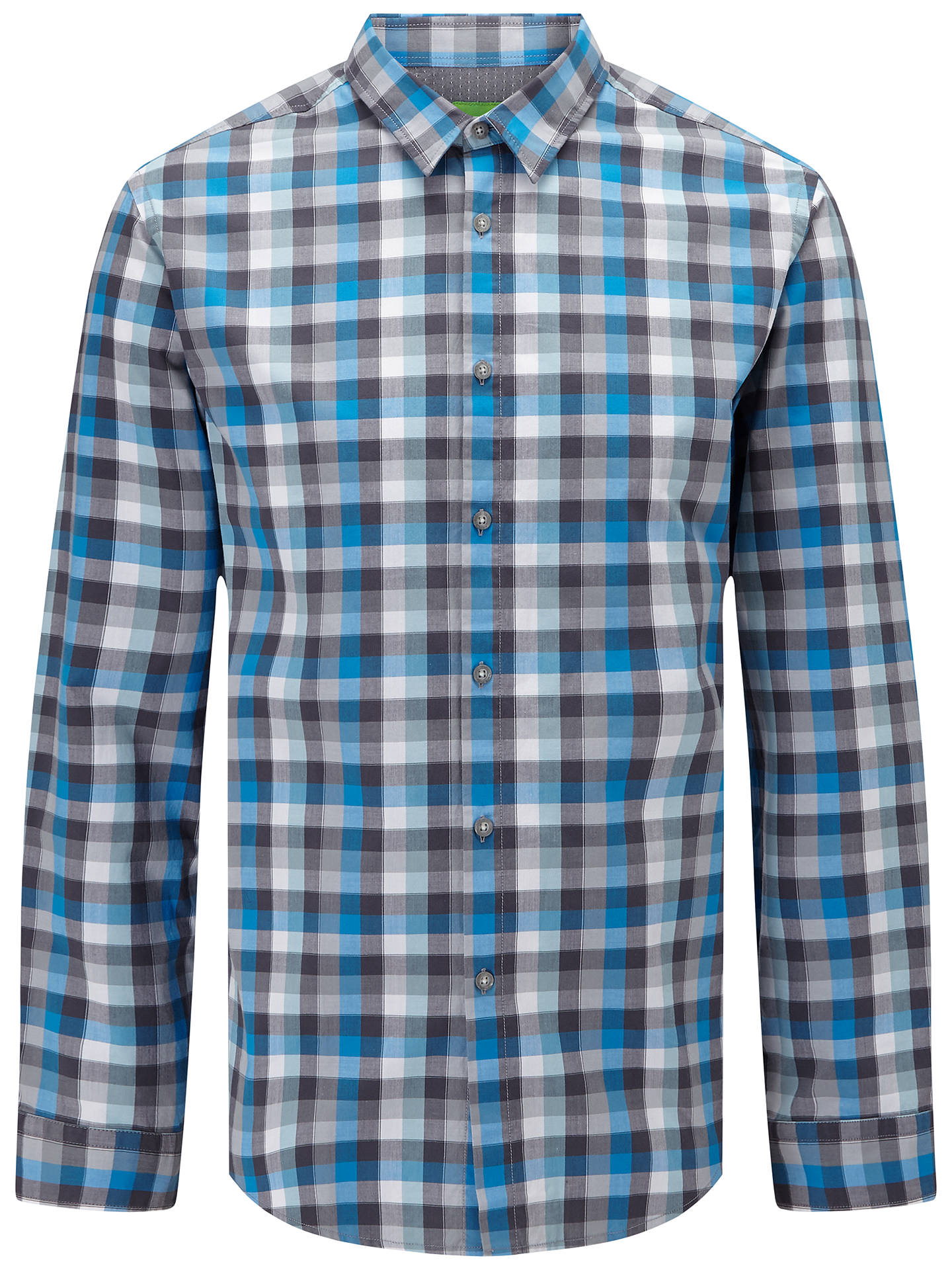 BOSS Green Mens C-bustai Check Long Sleeve Shirt