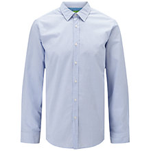 Buy BOSS Green C-Lukas Poplin Stripe Shirt, Open Blue Online at johnlewis.com