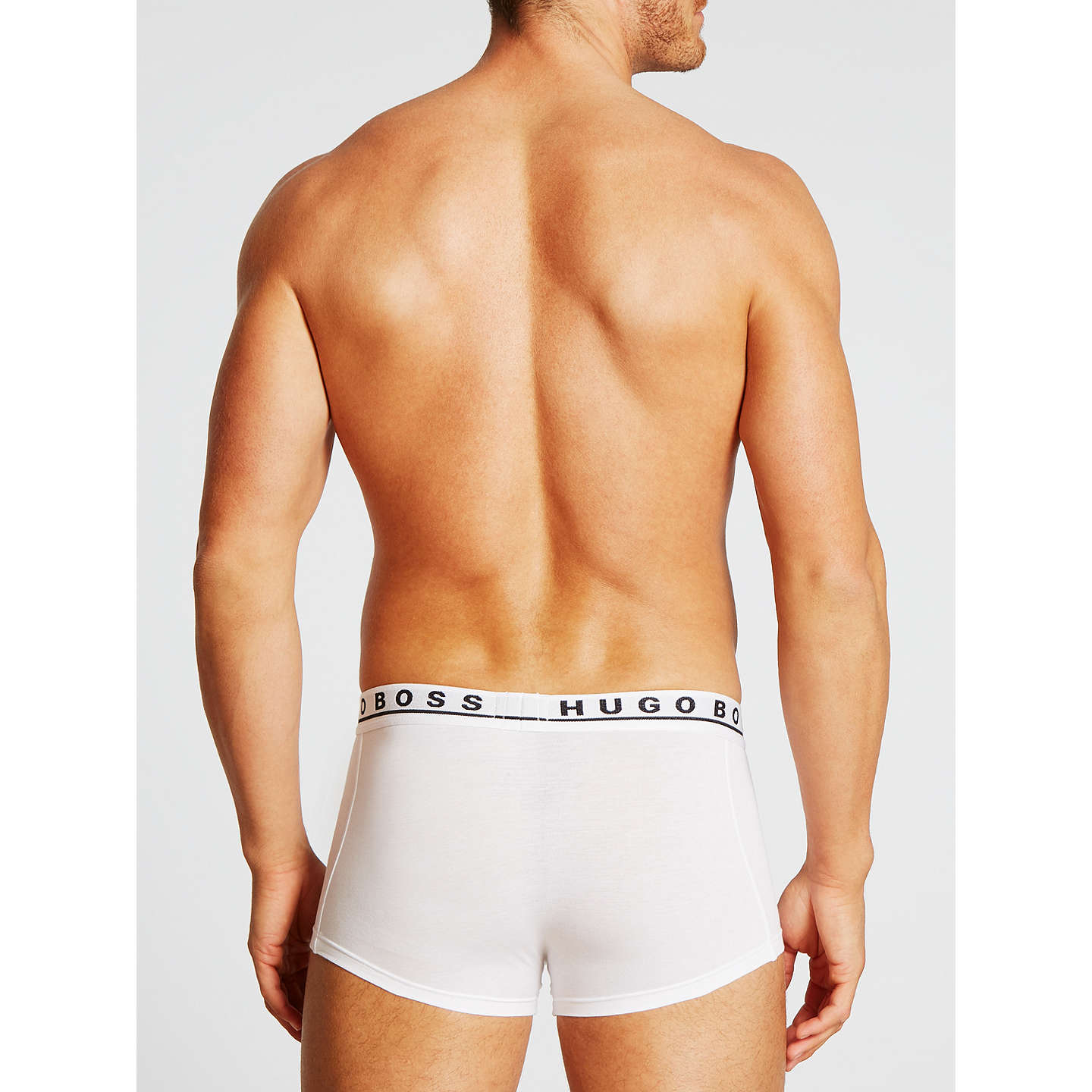 BuyBOSS Stretch Cotton Trunks, Pack of 3, White, S Online at johnlewis.com