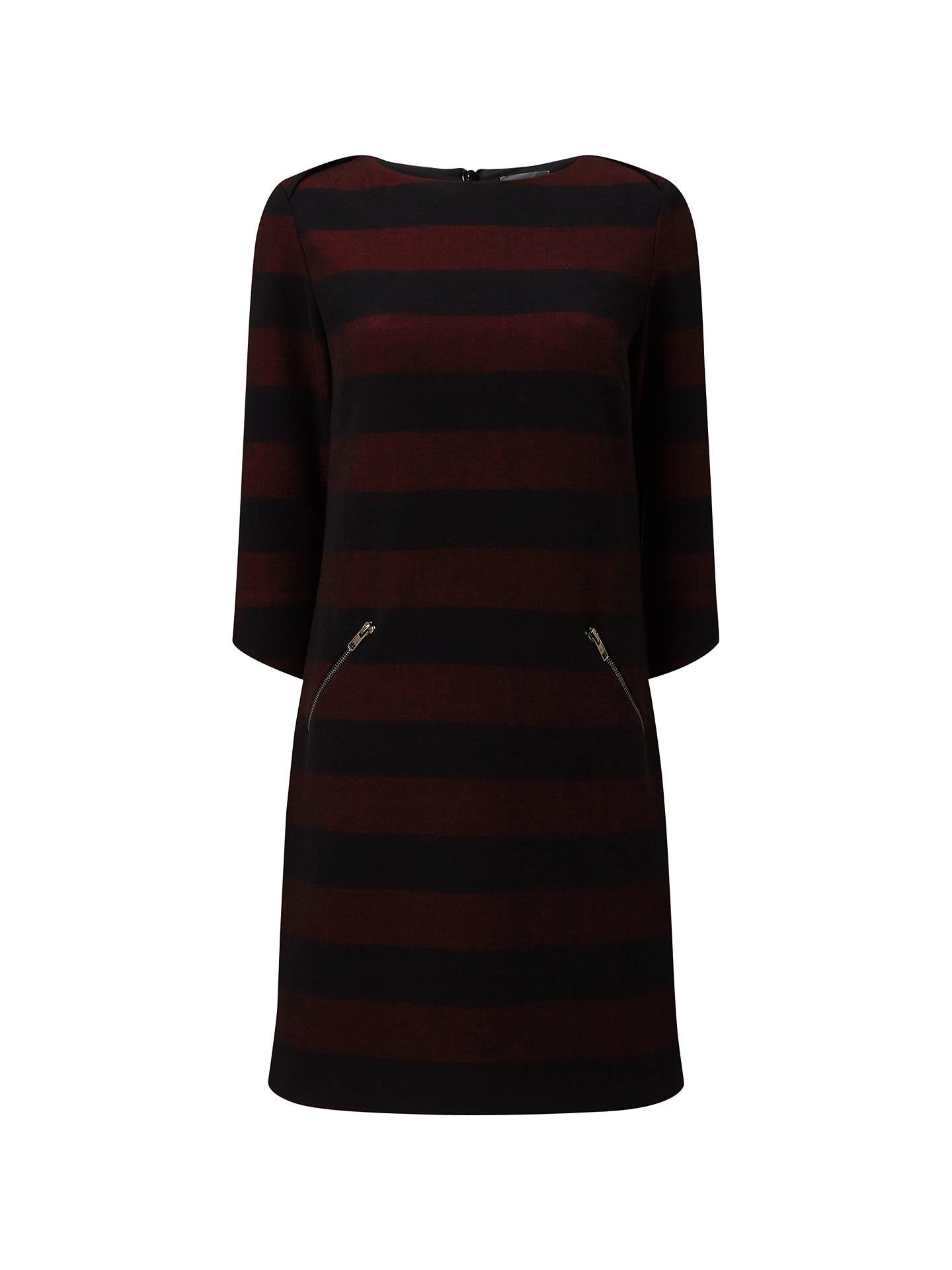 Phase Eight Sienna Tunic Dress, Aubergine/Black at John Lewis & Partners