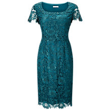 Buy Jacques Vert Lace Layer Dress, Mid Green Online at johnlewis.com