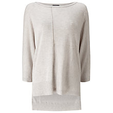 Buy Phase Eight Eloisa Exposed Seam Jumper, Oyster Online at johnlewis.com