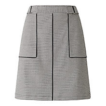 Buy Phase Eight Lillie Piped Skirt, Black/Ivory Online at johnlewis.com