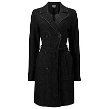 Buy Phase Eight Trista Boiled Wool Trench Coat, Charcoal Online at johnlewis.com