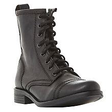 Buy Steve Madden Charrie Lace Up Calf Boots Online at johnlewis.com