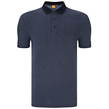 Buy BOSS Orange Picktown Slim Fit Polo Shirt, Dark Blue Online at johnlewis.com