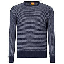 Buy BOSS Orange Arkuso Crew Neck Jumper, Dark Blue Online at johnlewis.com