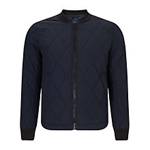 Buy BOSS Orange Okenzie Modern Quilted Bomber Jacket, Dark Blue Online at johnlewis.com
