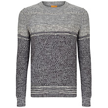 Buy BOSS Orange Agruade Crew Neck Jumper, Grey Online at johnlewis.com