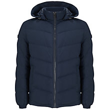 Buy BOSS Orange Owillem Down Jacket, Dark Blue Online at johnlewis.com