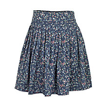 Buy Fat Face Girls' Floral Skirt, Light Navy Online at johnlewis.com