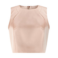 Buy Jacques Vert Satin Stretch Shell Top, Almond Online at johnlewis.com