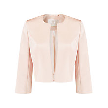 Buy Jacques Vert Satin Bolero, Light Pink Online at johnlewis.com