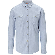 Buy BOSS Orange Edoslime Shirt, Turquoise/Aqua Online at johnlewis.com