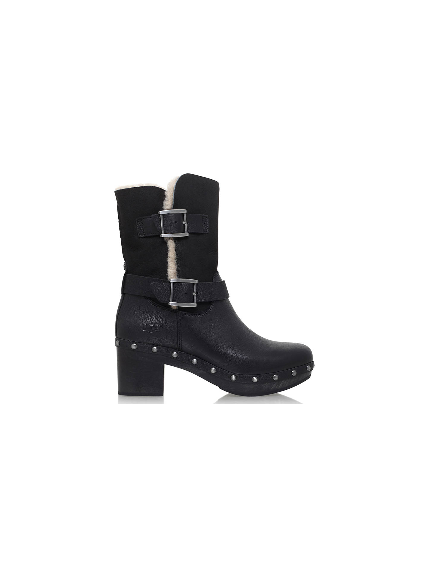 1746c68c4b7 UGG Brea Block Heeled Ankle Boots at John Lewis & Partners