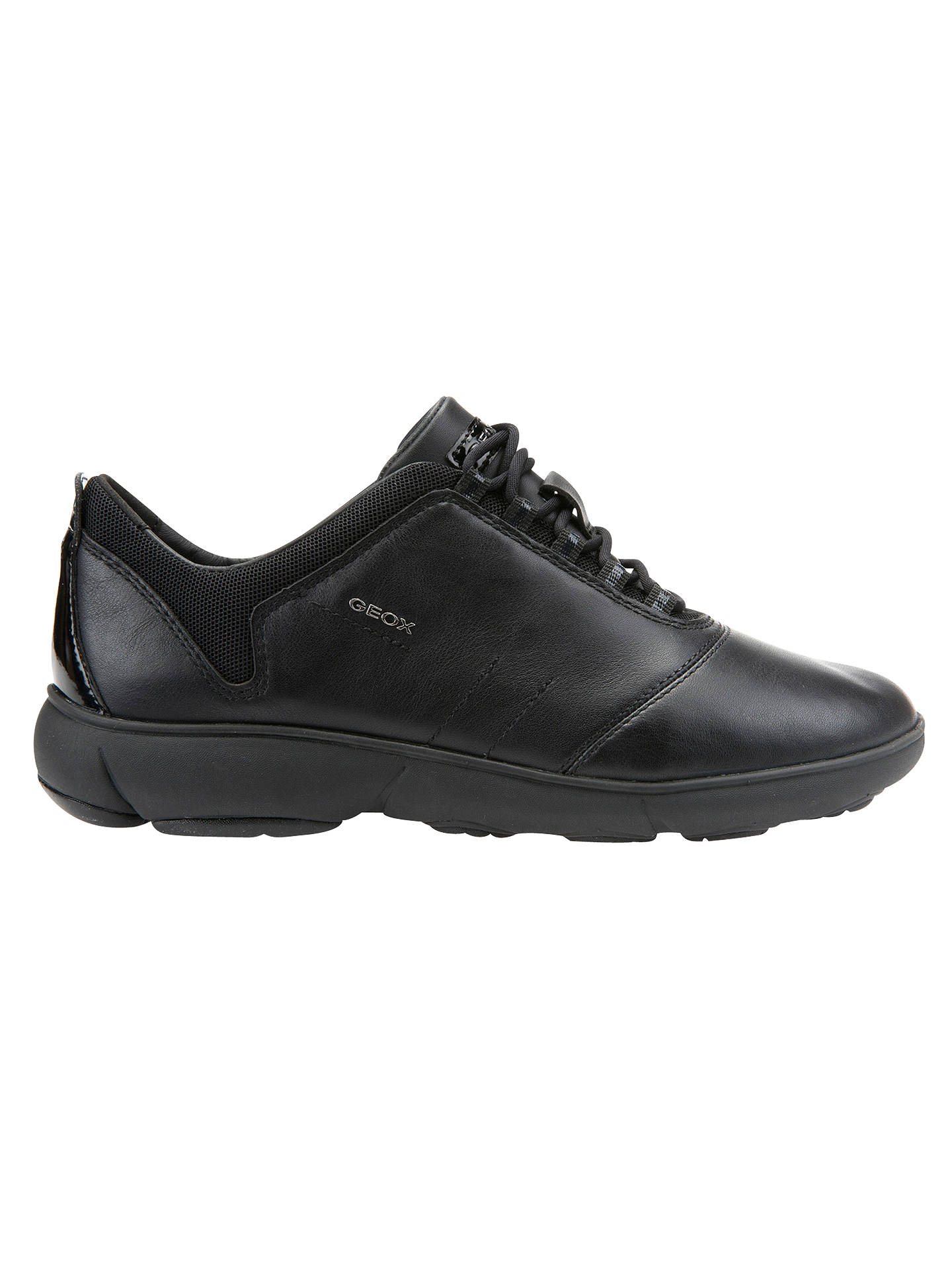 5c4345701a Buy Geox Women's Nebula Trainers, Black, 4 Online at johnlewis. ...