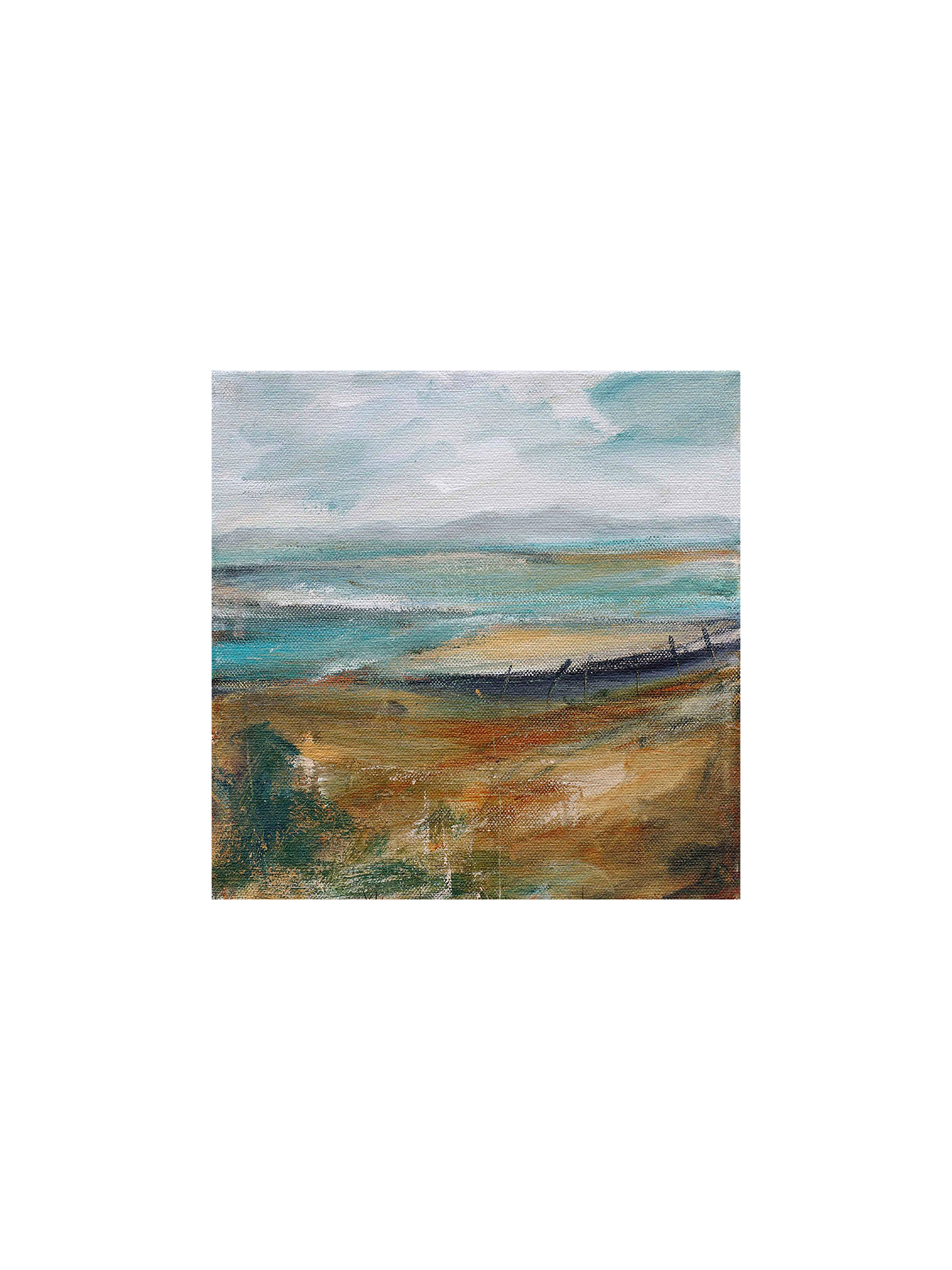 Buy Lesley Birch - Beach Shapes, Stretched Canvas, 60 x 60cm Online at johnlewis.com