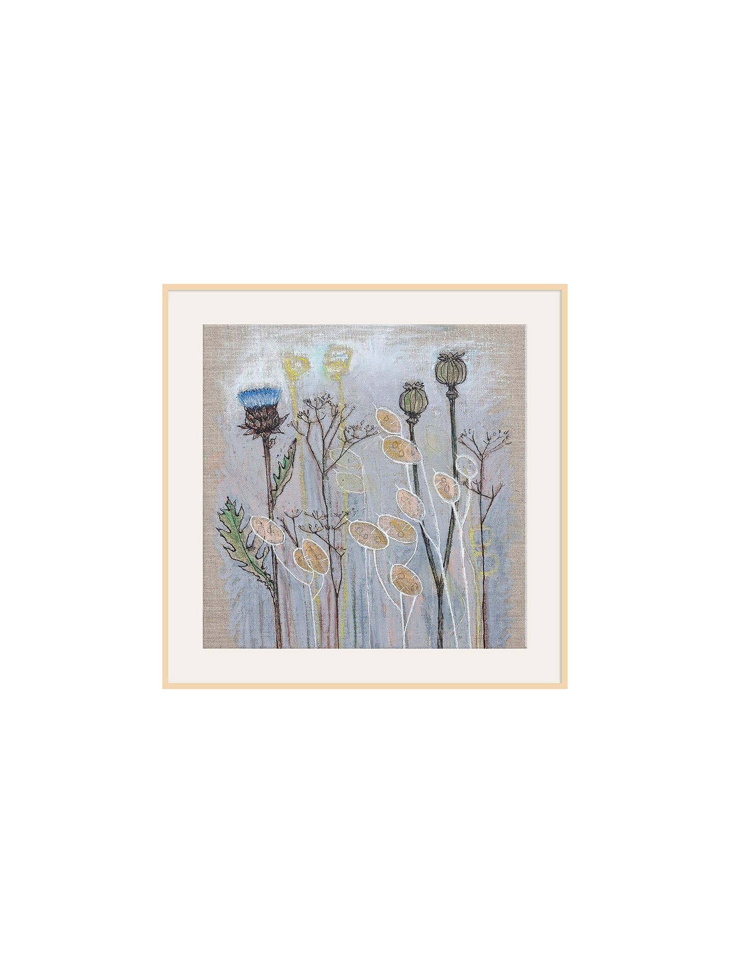 Buy Shyama Ruffell - On The Up & Up, Natural Ash Framed Print, 40 x 40cm Online at johnlewis.com
