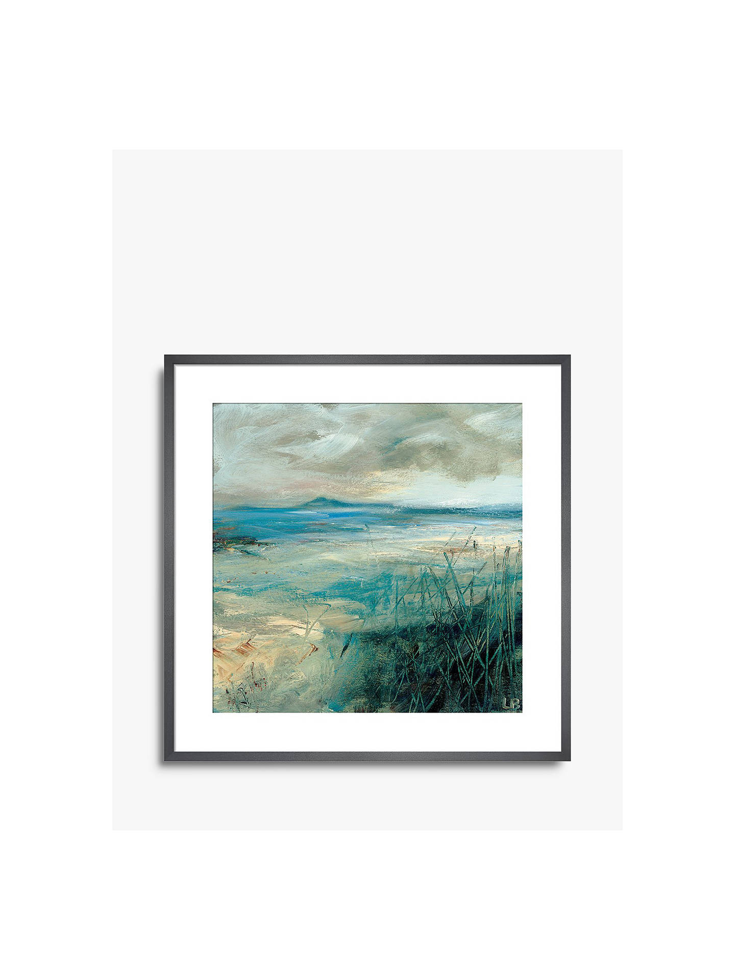 BuyLesley Birch - Sea Grass, Grey Framed Canvas, 90 x 90cm Online at johnlewis.com