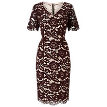 Buy Jacques Vert Opulent Lace Dress, Brown Online at johnlewis.com