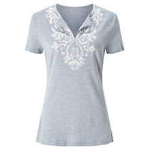 Buy East Embellished T-Shirt, Greystone Online at johnlewis.com