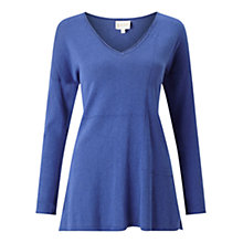 Buy East V-Neck Seam Detail Jumper, Cobalt Online at johnlewis.com