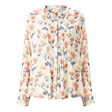 Buy East Amelie Print Blouse, Pearl Online at johnlewis.com