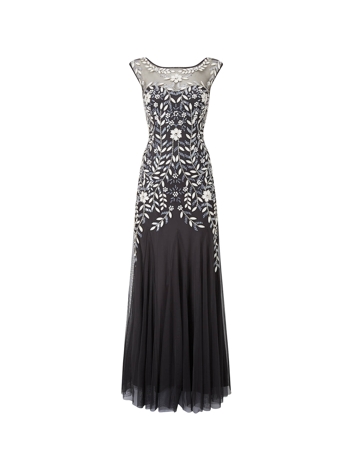 BuyPhase Eight Collection 8 Sabine Tulle Dress, Charcoal/Multi, 6 Online at johnlewis.com