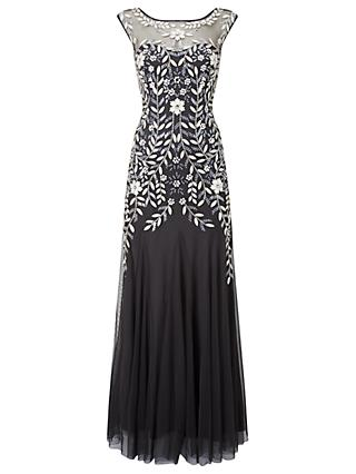 Phase Eight Collection 8 Sabine Tulle Dress, Charcoal/Multi