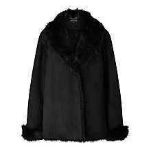 Buy Bruce by Bruce Oldfield Short Faux Shearling Coat, Black Online at johnlewis.com