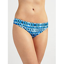 Buy John Lewis Blurred Ikat Print Bikini Briefs, Blue Online at johnlewis.com