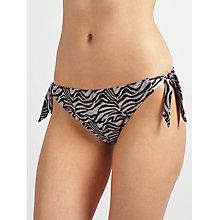 Buy John Lewis Jungle Cat Bunny Tie Bikini Briefs, Multi Online at johnlewis.com