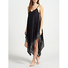 Buy John Lewis Handkerchief Hem Dress, Black Online at johnlewis.com