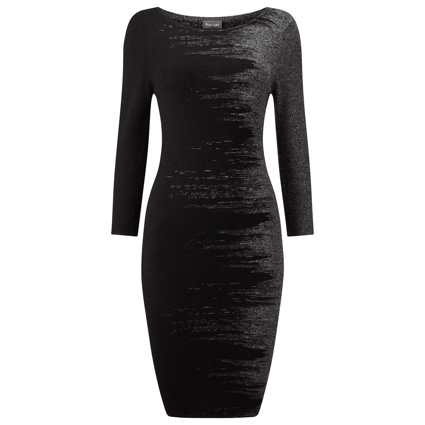 Phase Eight Bridget Brushstroke Dress, Black At John Lewis