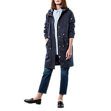 Buy Parka London Pascal Transitional Water Resistant Parka, Navy Online at johnlewis.com