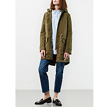 Buy Parka London Maddy Water Resistant Parka, Khaki Online at johnlewis.com