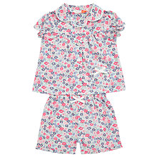 Buy John Lewis Baby Ditsy Floral Top and Shorts Pyjama Set, Pink Online at johnlewis.com