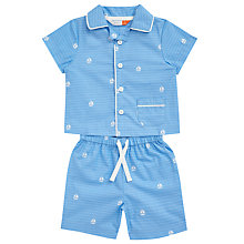 Buy John Lewis Baby Sailing Boat Top and Shorts Pyjama Set, Blue Online at johnlewis.com