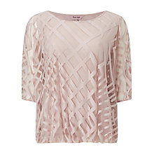 Buy Phase Eight Eve Geo Burnout Top, Pink Online at johnlewis.com