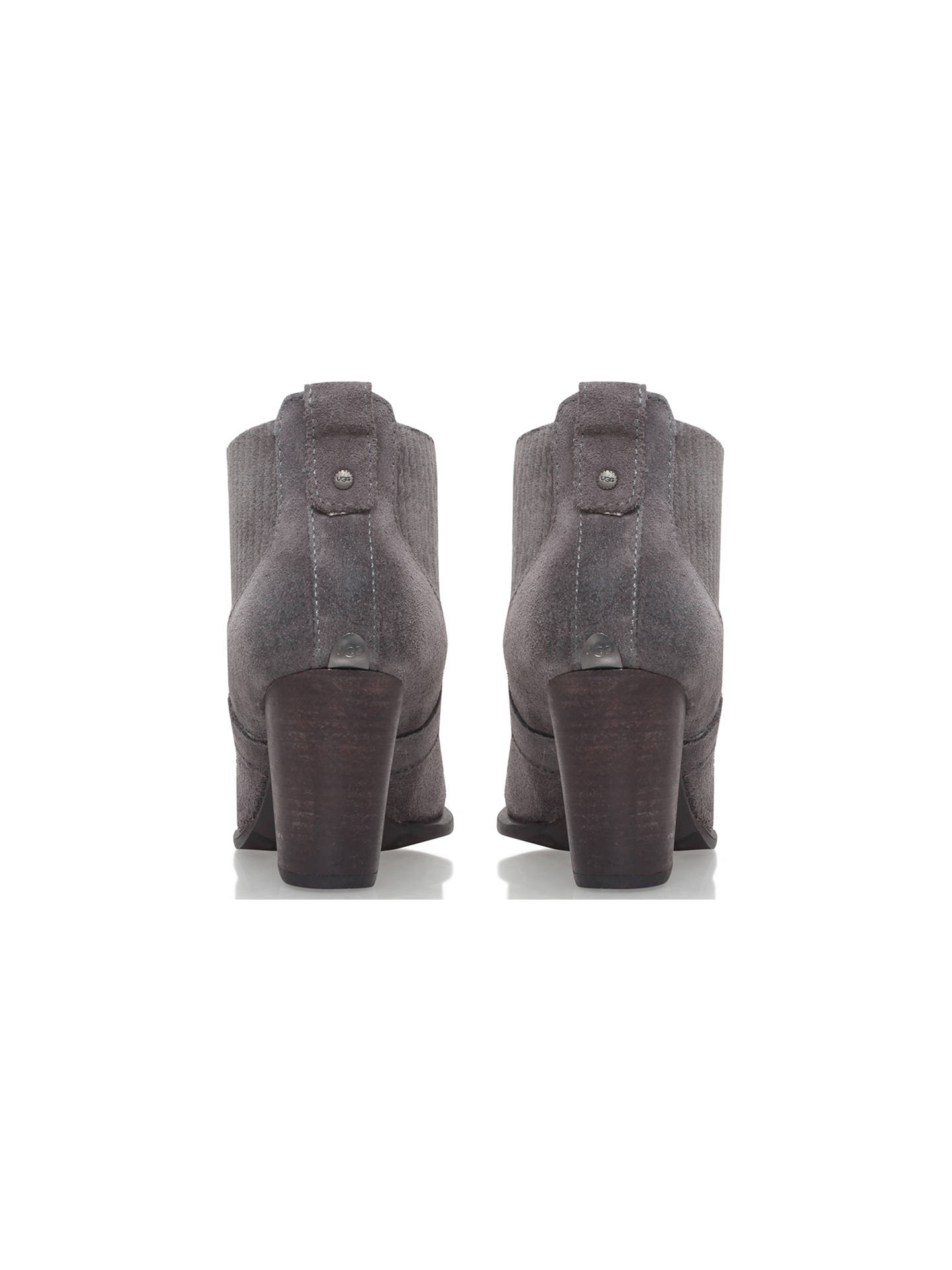 fd501fc84b8 UGG Cobie II Block Heel Ankle Boots, Grey Suede at John Lewis & Partners