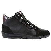 Buy Geox Myria High Top Lace Up Trainers, Black Online at johnlewis.com