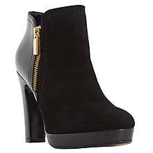 Buy Dune Oscar High Heel Ankle Boots, Black Suede Online at johnlewis.com