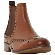 Buy Dune Wide Fit Quent Ankle Boots, Tan Online at johnlewis.com