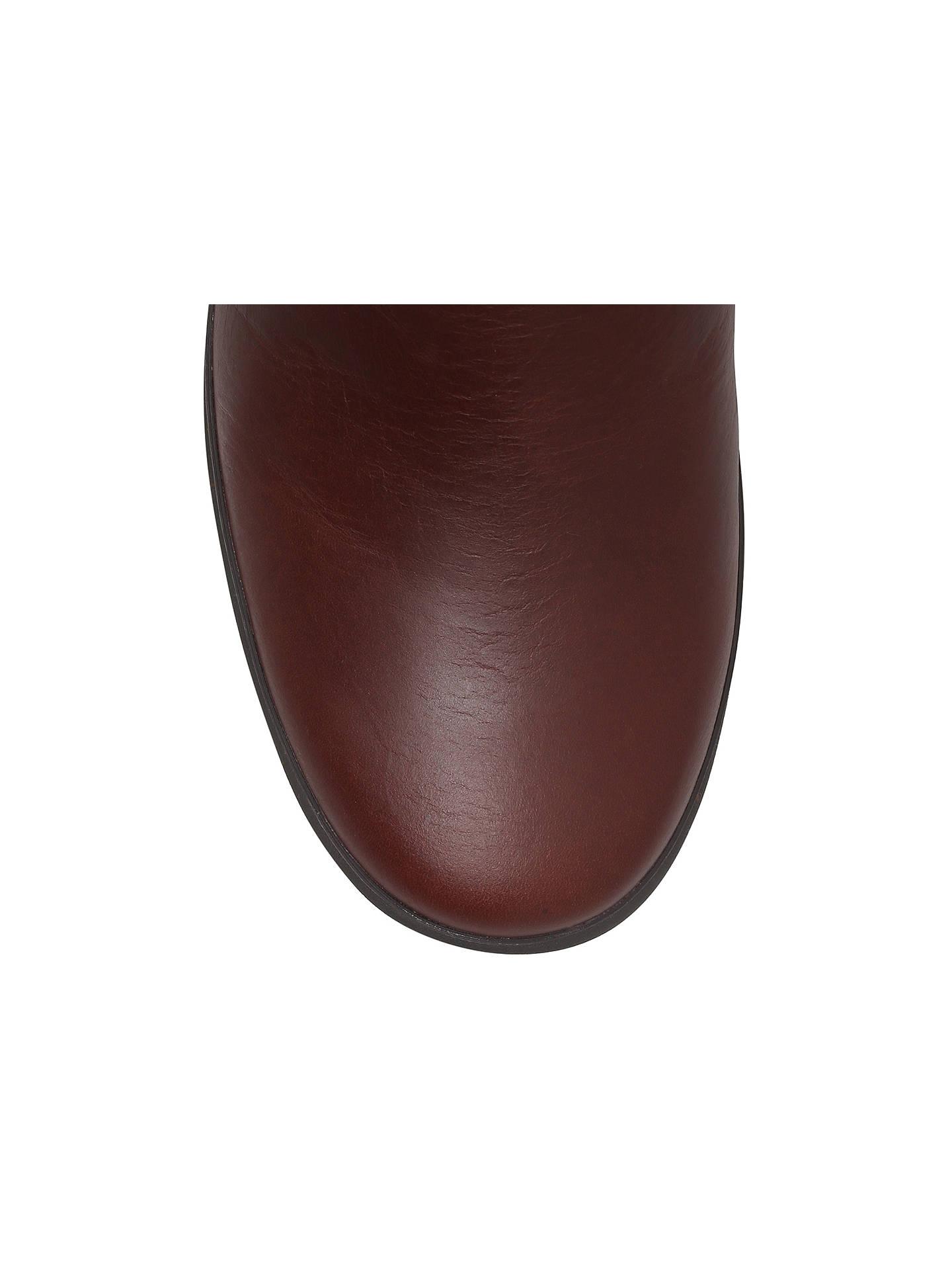 3d7f7ccbb5b UGG Evanna Knee High Biker Boots, Dark Brown at John Lewis & Partners