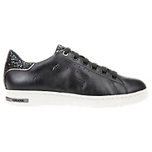 Buy Geox Jaysen Glitter Lace Up Trainers, Black Online at johnlewis.com
