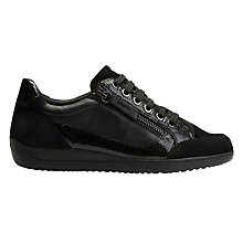 Buy Geox Myria Lace Up Trainers, Black Online at johnlewis.com