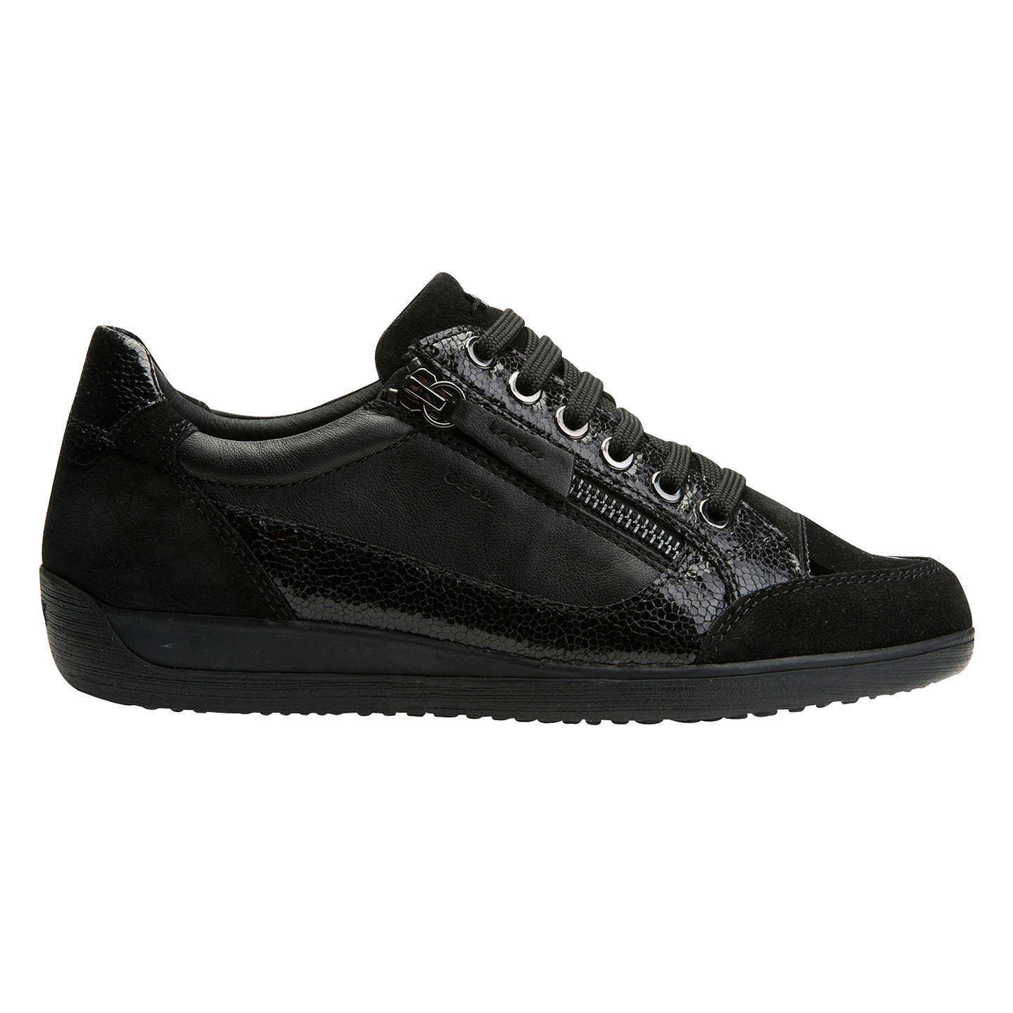 BuyGeox Myria Lace Up Trainers Black 3 Online at johnlewiscom