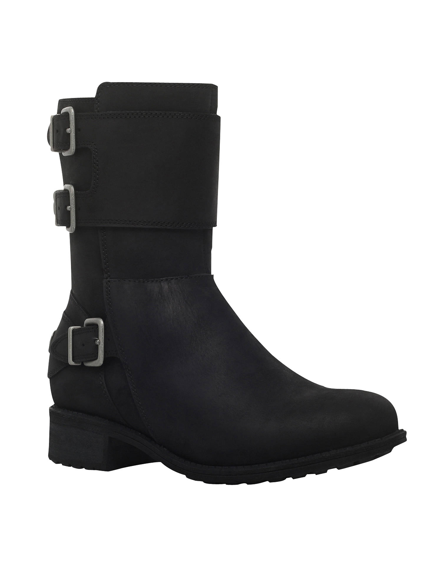 eec6e8e69df UGG Wilcox Buckle Ankle Boots, Black at John Lewis & Partners